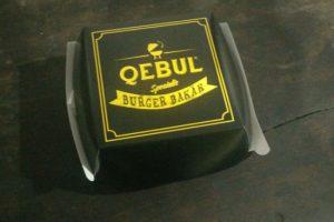 Burger Qebul Spesialis Burger Bakar Kantin Taman Papyrus, Jakarta Selatan